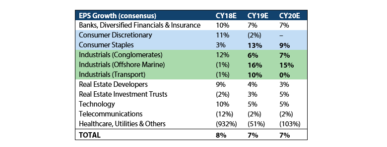 Singapore Equity Outlook 2019